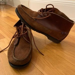 Suede and leather Sebago chukka boots, brown 9.5M